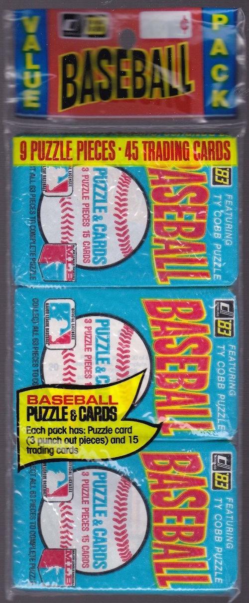 1983 Donruss Baseball Unopened Rack Pack