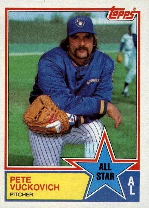 1983 Topps All-Star Pete Vuckovich