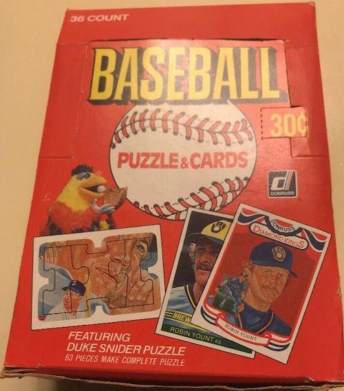 1984 Donruss Unopened Wax Box