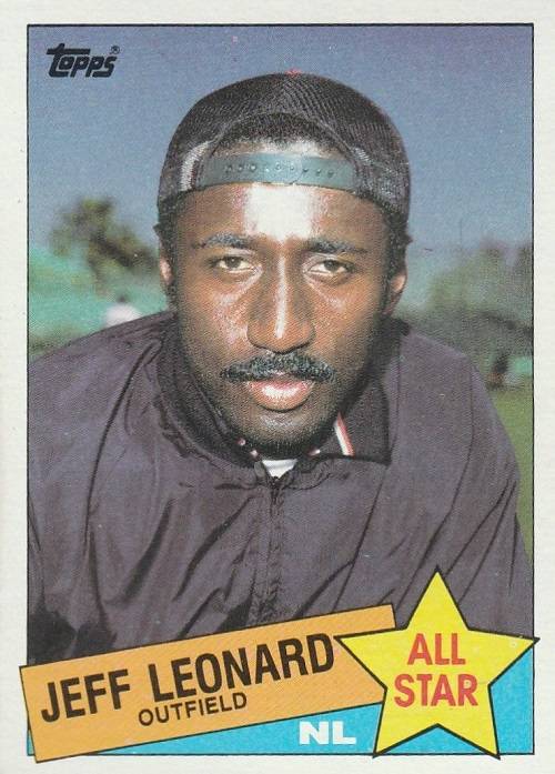 1985 Topps All-Star Jeff Leonard