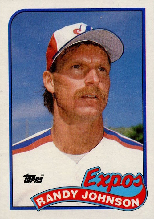 1989 Topps Randy Johnson Rookie Card (Expos)