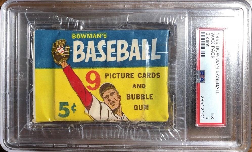 1955 Bowman Baseball 5-Cent Unopened Pack