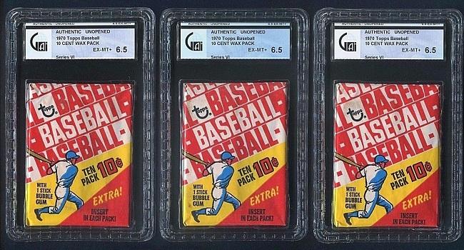 1970 Topps Baseball Unopened 6th Series Wax Packs