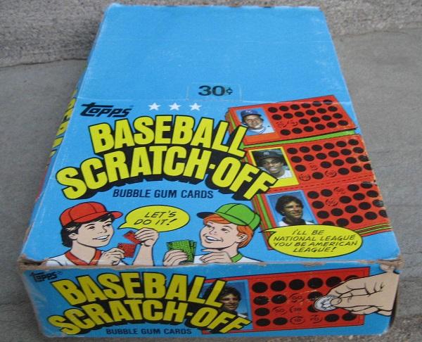1981 Topps Baseball Scratch-Off Wax Box