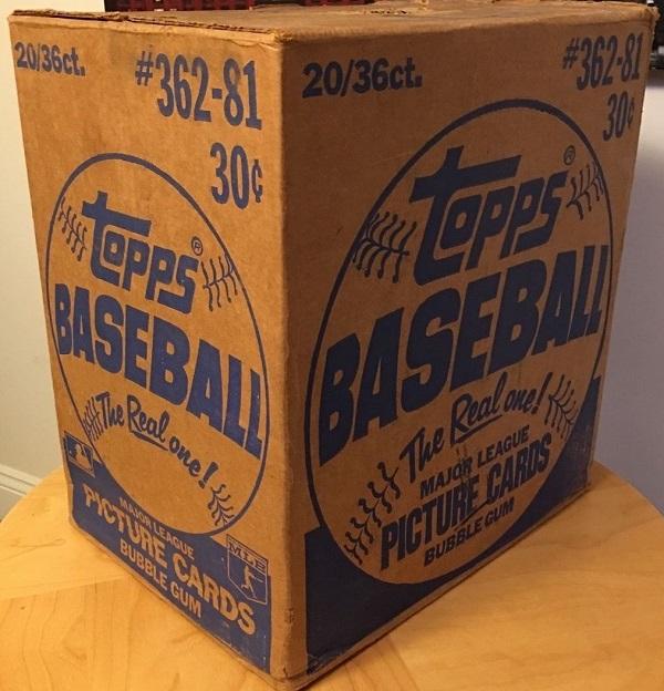 1981 Topps Baseball Unopened Wax Case