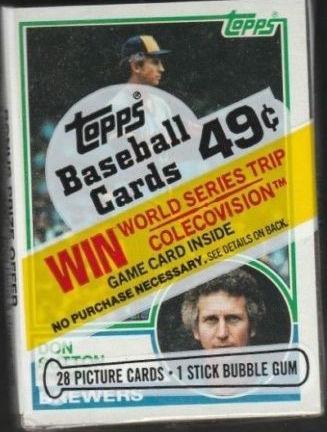 1983 Topps Baseball Cello Pack Don Sutton