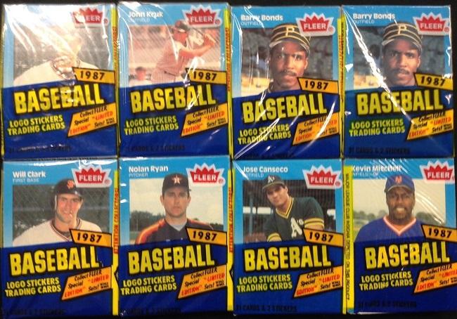 1987 Fleer Baseball Cello Packs