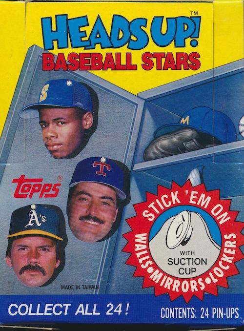 1990 Topps Heads Up Baseball Stars Unopened Box