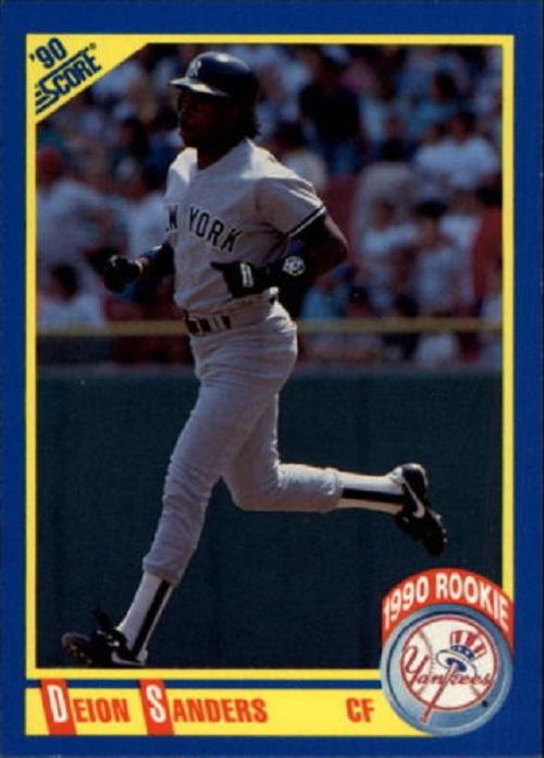 1990 Score Deion Sanders baseball