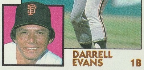 1984 Topps Darrell Evans Belies His Place in History