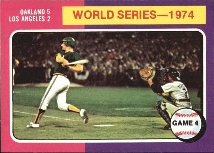 1975 Topps World Series - 1974 Game 4 Ken Holtzman