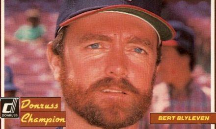 1984 Donruss Champions Bert Blyleven Saw the Future