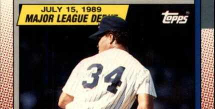 1989 Topps Major League Debut Bobby Davidson Gives Us Hope