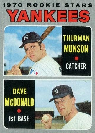 1970 Topps Thurman Munson Rookie Card (#189)