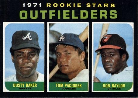 1971 Topps Don  Baylor Dusty  Baker Tom  Paciorek