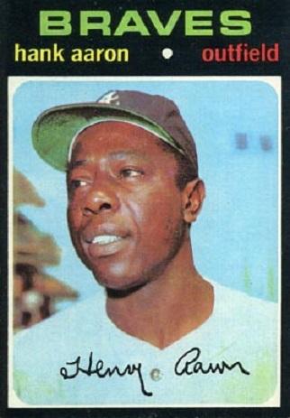1971 Topps Hank  Aaron