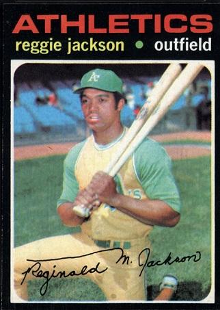 1971 Topps Reggie  Jackson