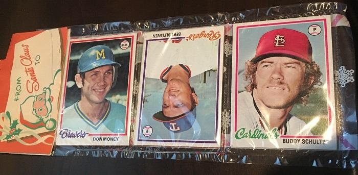 1978 Topps Baseball Cards Holiday Rack Pack Bert Blyleven
