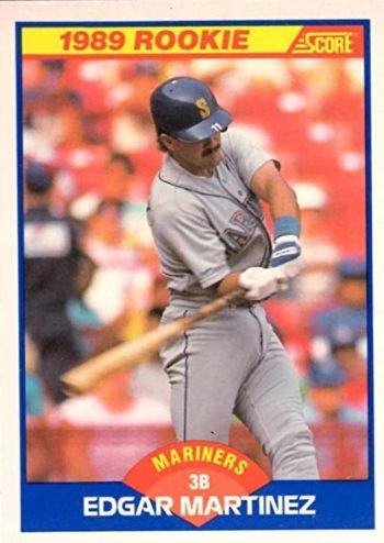 1989 Score Edgar Martinez Rookie Card