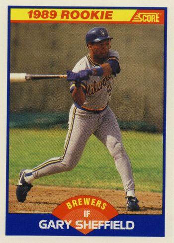 1989 Score Gary Sheffield Rookie Card
