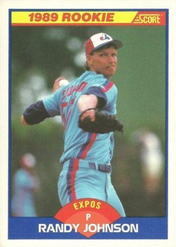 1989 Score Randy Johnson Rookie Card
