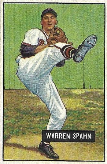 1951 Bowman Warren Spahn