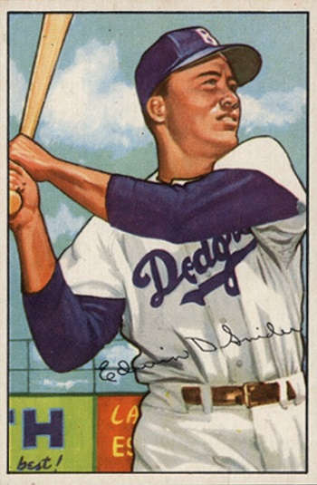 1952 Bowman Duke  Snider