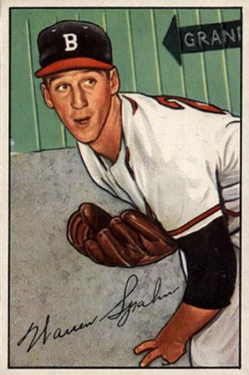 1952 Bowman Warren  Spahn
