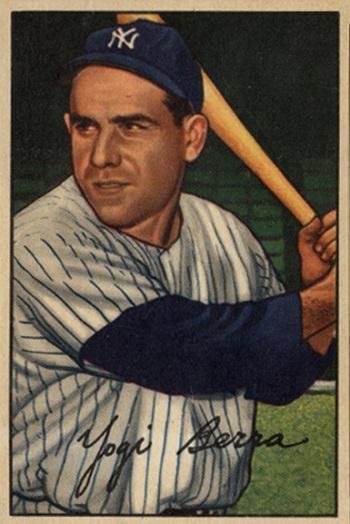 1952 Bowman Yogi  Berra