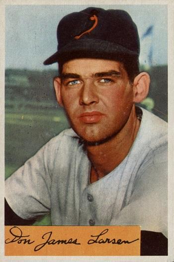 1954 Bowman Don Larsen