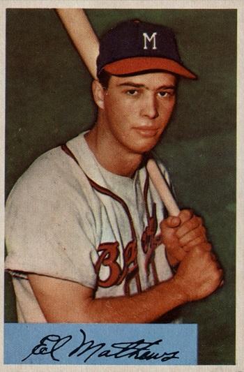 1954 Bowman Eddie Mathews