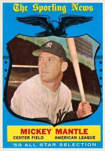 1959 Topps Mickey Mantle All Star