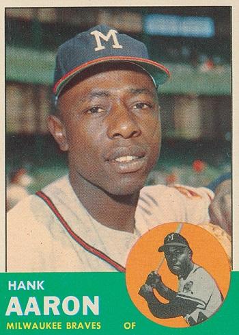 1963 Topps Hank Aaron