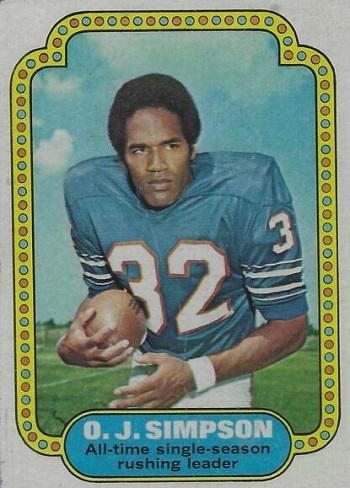 1974 Topps O.J. Simpson RB