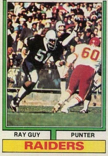 1974 Topps Ray  Guy
