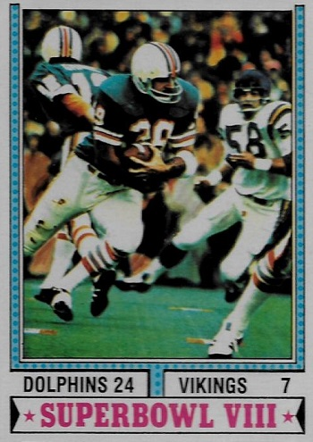 1974 Topps Super Bowl VIII