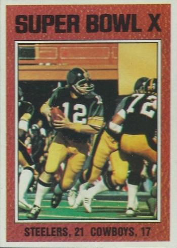 1976 Topps Super Bowl X (Bradshaw)