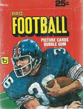 1980 Topps Football cards wax pack unopened box