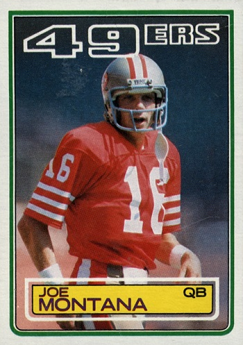 1983 Topps Joe Montana