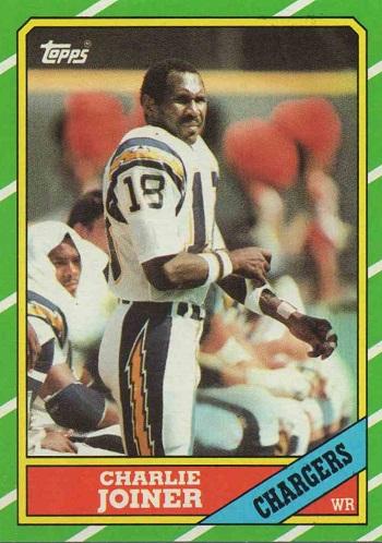 1986 Topps Charlie Joiner