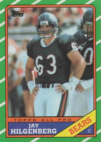 1986 Topps Jay Hilgenberg
