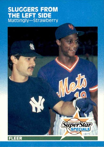 1987 Fleer Don Mattingly and Darryl Strawberry Super Star Specials