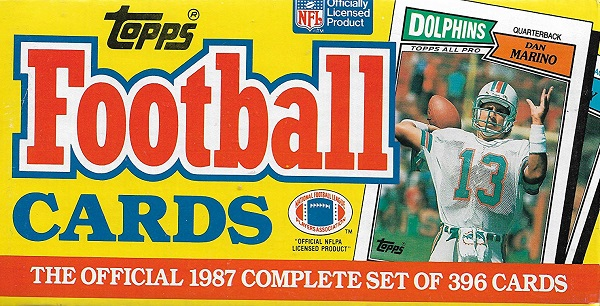 1987 Topps football cards factory set
