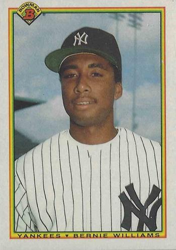 1990 Bowman Bernie Williams Rookie Card