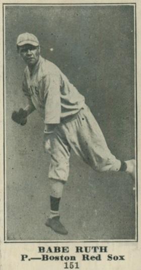 1916 M101-4 -- M101-5 Babe Ruth rookie card