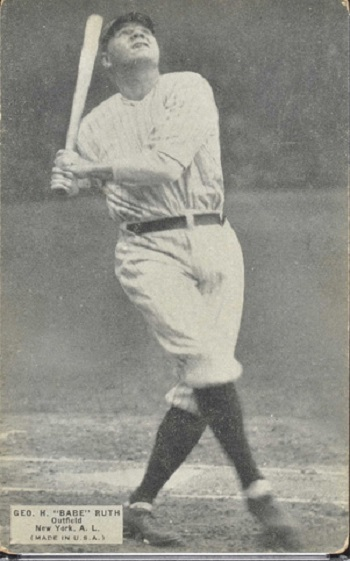 1925 Exhibits Babe Ruth