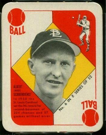 1951 Topps Blue Back Red Schoendienst