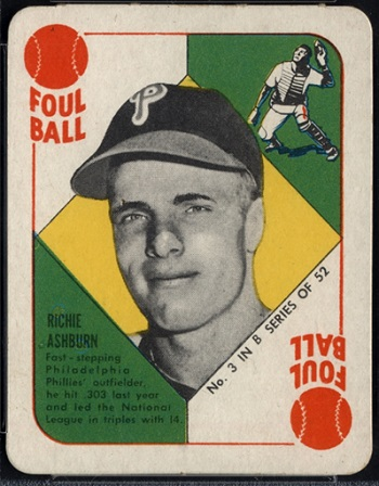 1951 Topps Blue Back Richie Ashburn