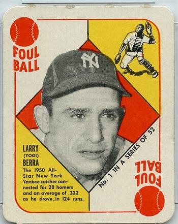 1951 Topps Red Back Yogi Berra