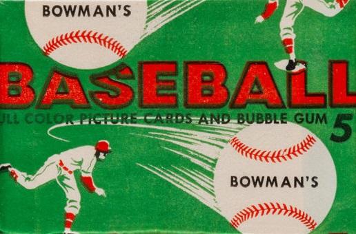1954 Bowman baseball cards unopened wax pack